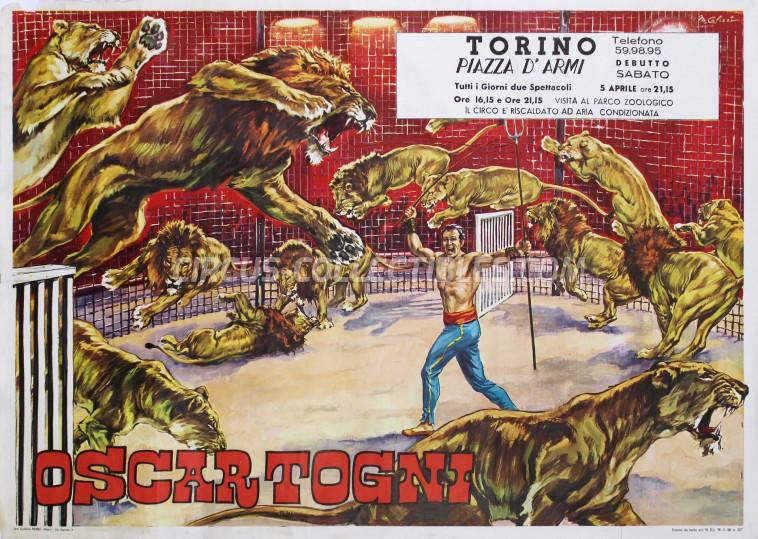 Oscar Togni Circus Poster - Italy, 1969