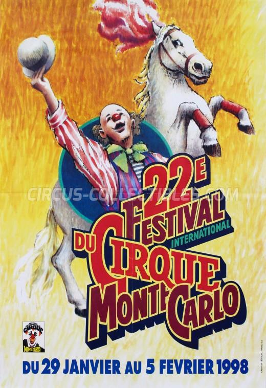 Festival International du Cirque de Monte-Carlo Circus Poster - Monaco, 1998