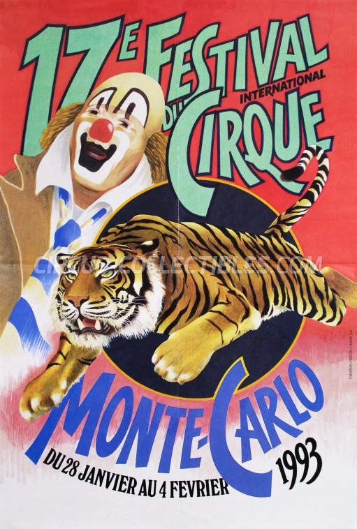 Festival International du Cirque de Monte-Carlo Circus Poster - Monaco, 1993