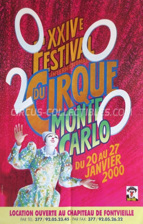 Festival International du Cirque de Monte-Carlo Circus Poster - Monaco, 2000