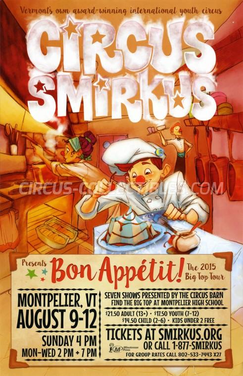 Smirkus Circus Poster - USA, 2015