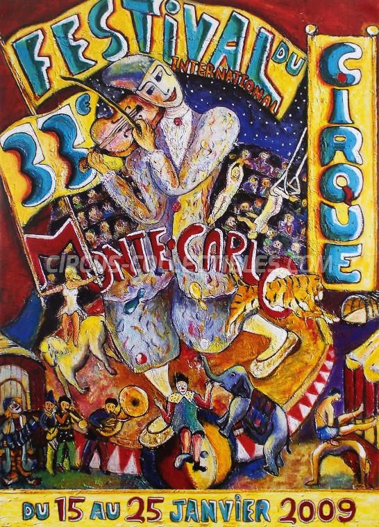 Festival International du Cirque de Monte-Carlo Circus Poster - Monaco, 2009