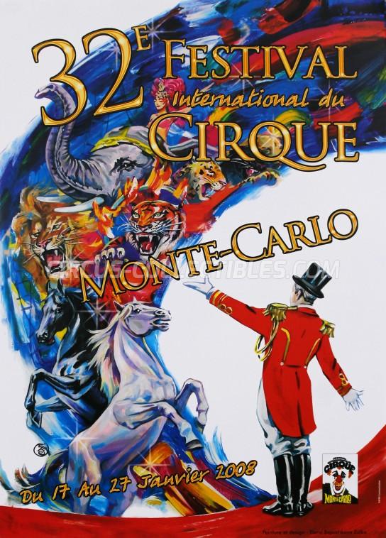 Festival International du Cirque de Monte-Carlo Circus Poster - Monaco, 2008