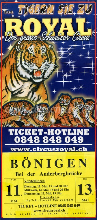 Royal (CH) Circus Poster - Switzerland, 2010