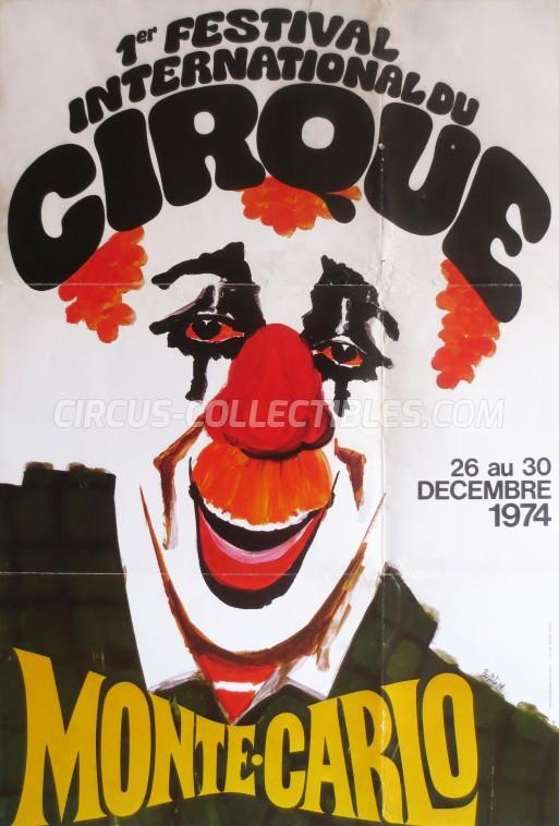 Festival International du Cirque de Monte-Carlo Circus Poster - Monaco, 1974