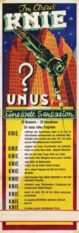 Knie Circus Poster - Switzerland, 1947