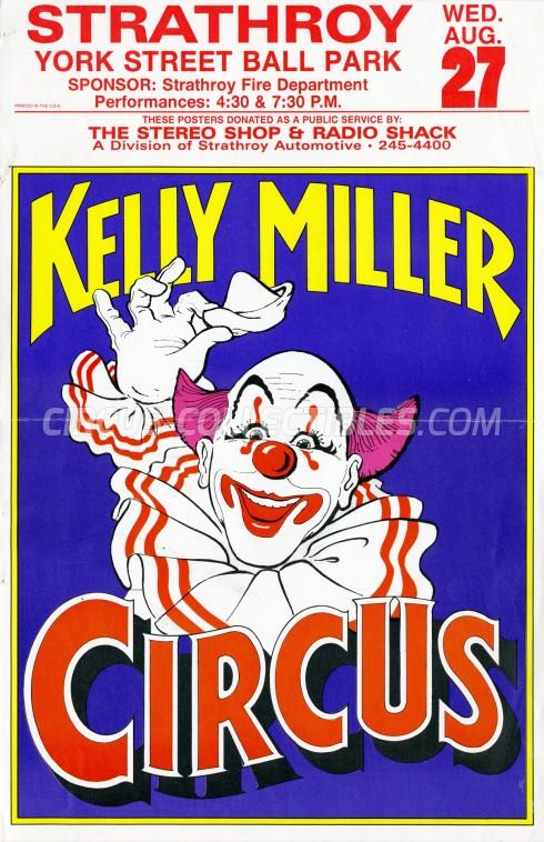 Kelly Miller Circus Circus Poster - USA, 1997