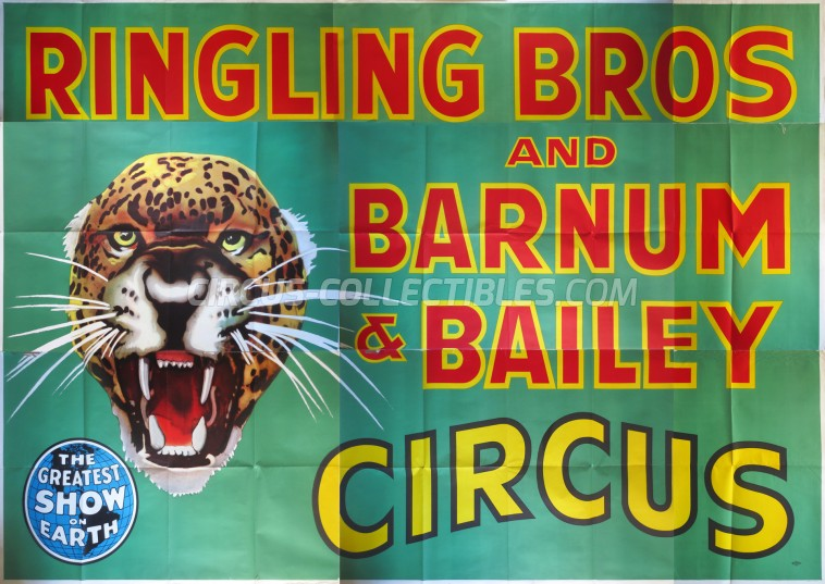 Ringling Bros. and Barnum & Bailey Circus Circus Poster - USA, 1956