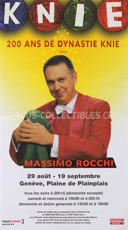 Knie Circus Poster - Switzerland, 2003