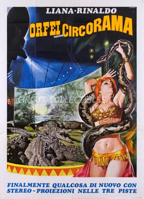Liana e Rinaldo Orfei Circus Poster - Italy, 1977