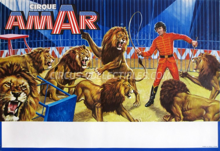 Amar Circus Poster - France, 1976