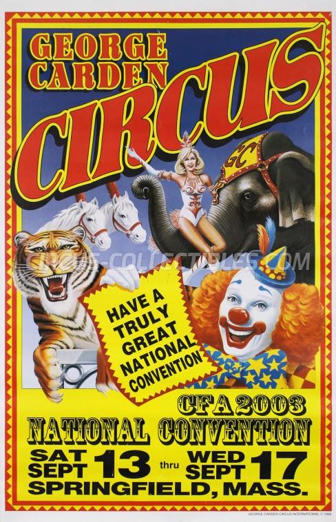 George Carden Circus Circus Poster - USA, 2003