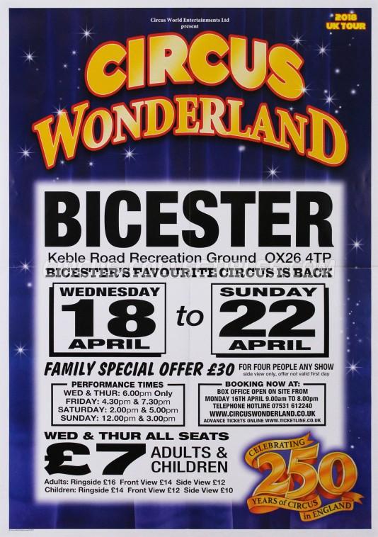 Wonderland (UK) Circus Poster - England, 2018
