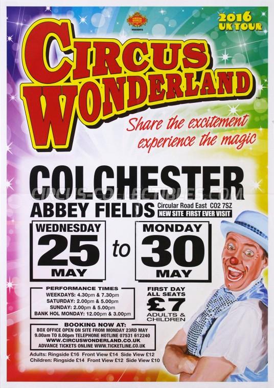 Wonderland (UK) Circus Poster - England, 2016