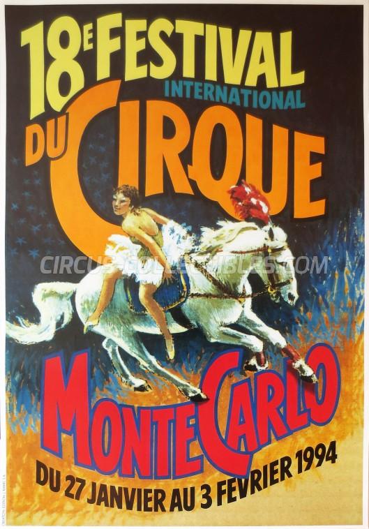 Festival International du Cirque de Monte-Carlo Circus Poster - Monaco, 1994