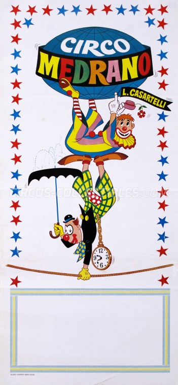 Medrano (Casartelli) Circus Poster - Italy, 1978