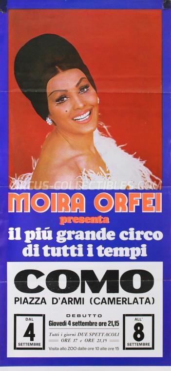 Moira Orfei Circus Poster - Italy, 1980