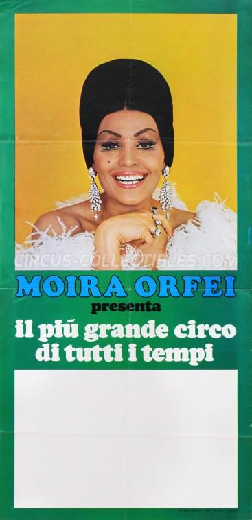 Moira Orfei Circus Poster - Italy, 1975
