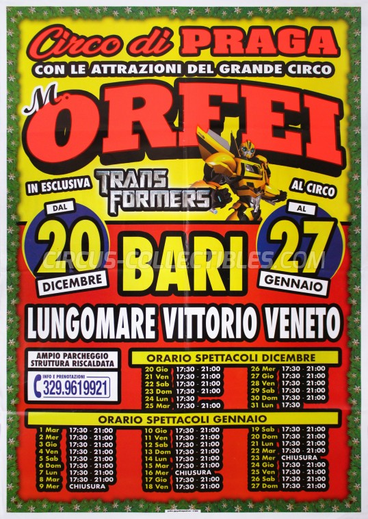 Marina Orfei Circus Poster - Italy, 2018