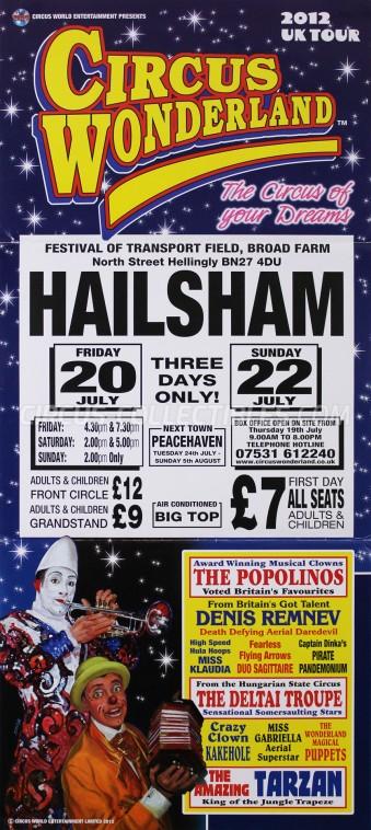 Wonderland (UK) Circus Poster - England, 2012