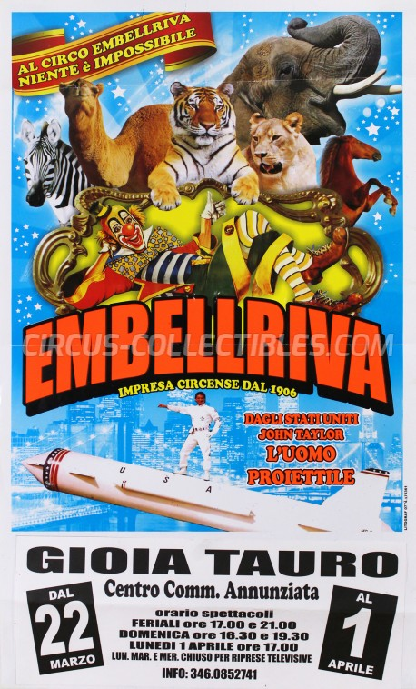 Embell Riva Circus Poster - Italy, 2013
