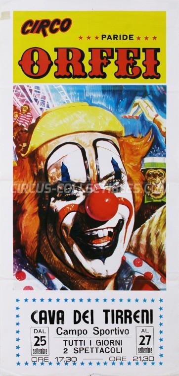 Paride Orfei Circus Poster - Italy, 1982