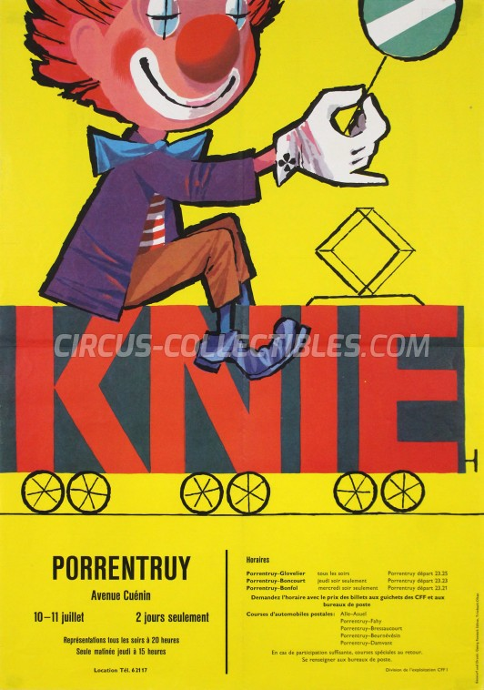 Knie Circus Poster - Switzerland, 1963