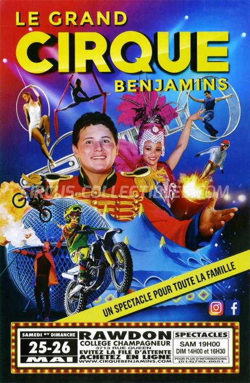 The Great Benjamins Circus Circus Poster - USA, 2019