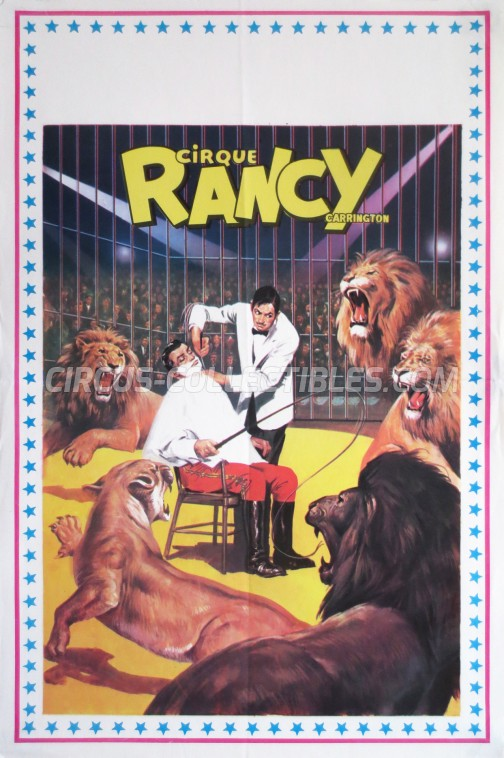 Rancy Carrington Circus Poster - France, 1980