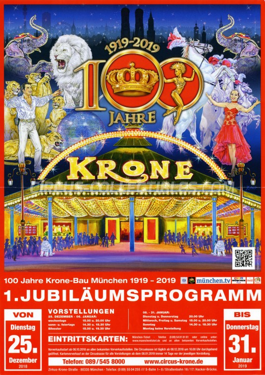 Krone Circus Poster - Germany, 2018