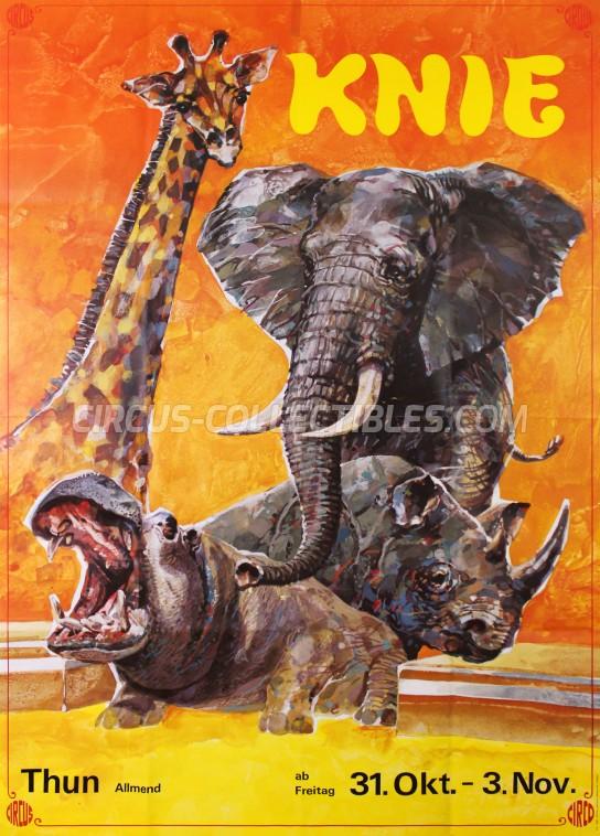 Knie Circus Poster - Switzerland, 1980