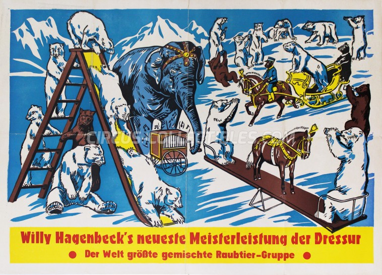 Willy Hagenbeck Circus Poster - Germany, 0