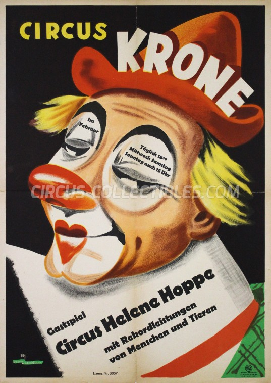 Krone Circus Poster - Germany, 1947