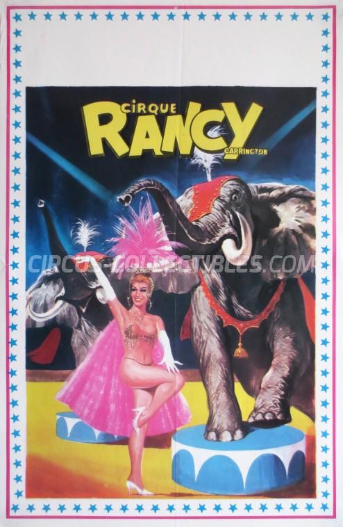 Rancy Carrington Circus Poster - France, 1980