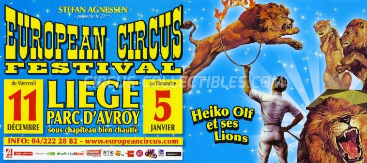 European Circus Festival Circus Poster - Belgium, 2013