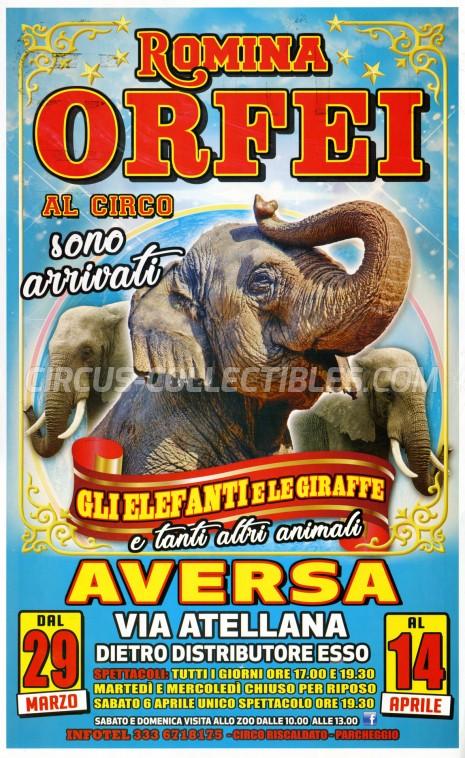 Romina Orfei Circus Poster - Italy, 2019