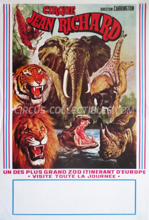 Pinder - Jean Richard Circus Poster - France, 1984