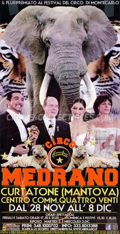 Medrano (Casartelli) Circus Poster - Italy, 2014