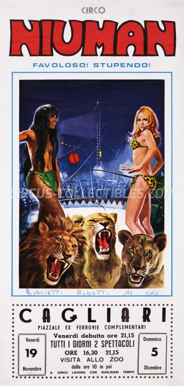 Niuman Circus Poster - Italy, 1976