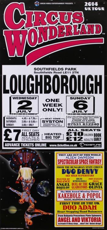 Wonderland (UK) Circus Poster - England, 2014
