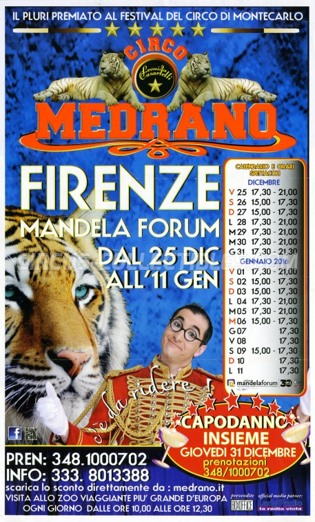Medrano (Casartelli) Circus Poster - Italy, 2015