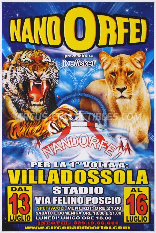 Nando Orfei Circus Poster - Italy, 2018
