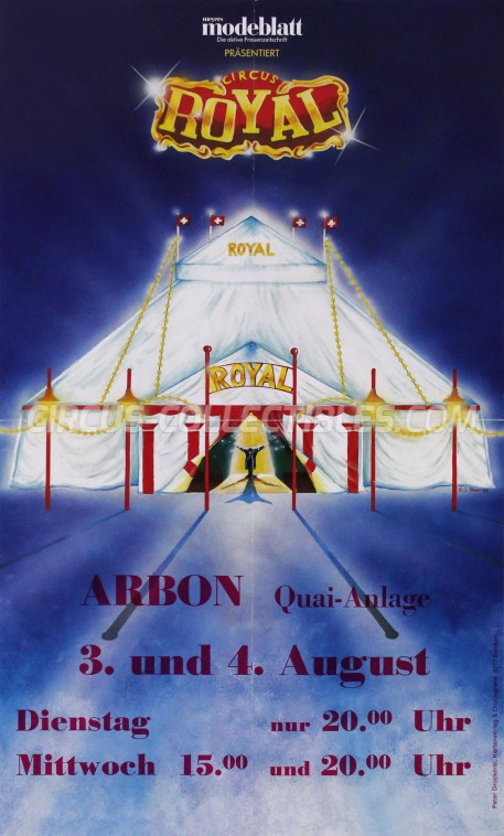 Royal (CH) Circus Poster - Switzerland, 1993