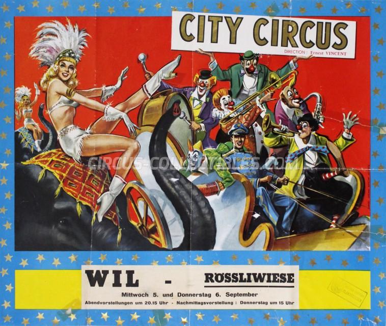 City Circus Circus Poster - Switzerland, 1962