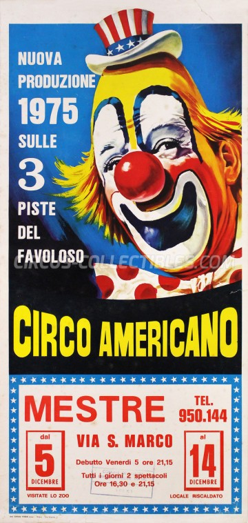 American Circus Circus Poster - Italy, 1975