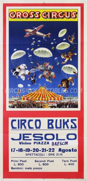 Buks Circus Poster - Italy, 1965