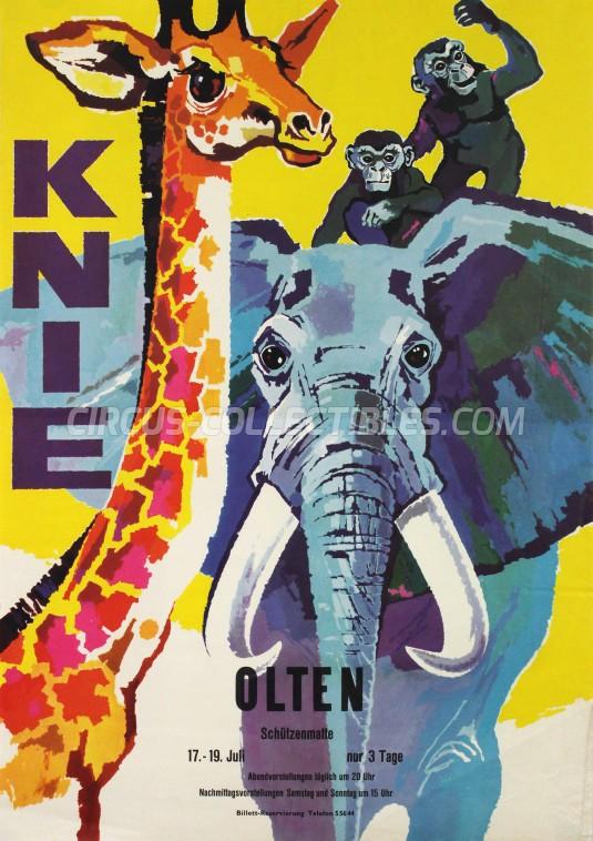 Knie Circus Poster - Switzerland, 1959