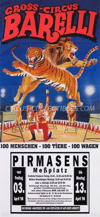 Barelli Circus Poster - Germany, 1998