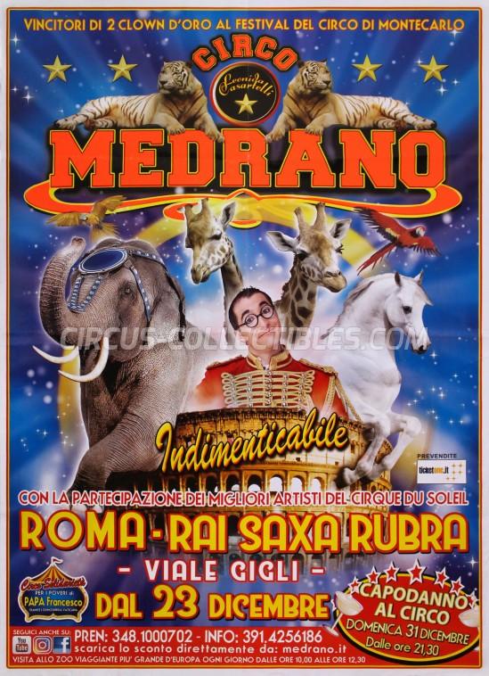 Medrano (Casartelli) Circus Poster - Italy, 2017