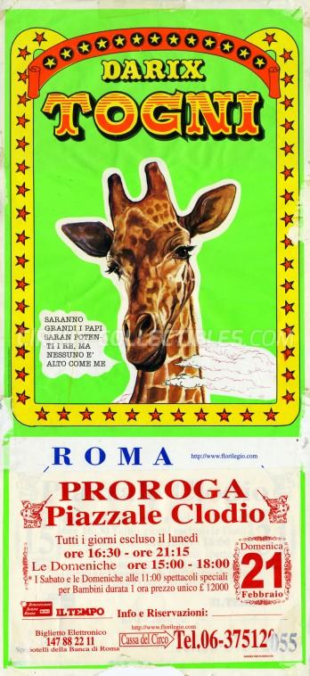 Darix Togni Circus Poster - Italy, 1999